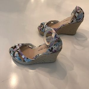 Christian Siriano Floral Wedges